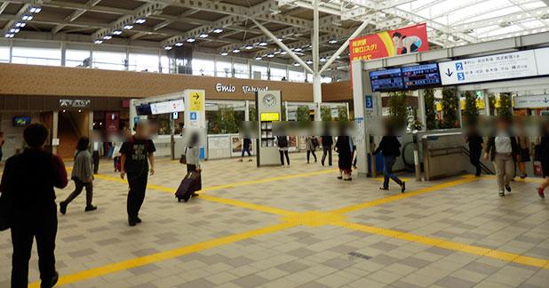 「emio(エミオ)」所沢駅の中の様子