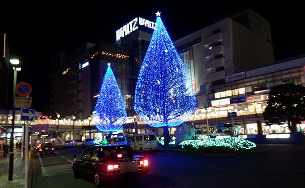 所沢駅西口周辺のイルミネーション