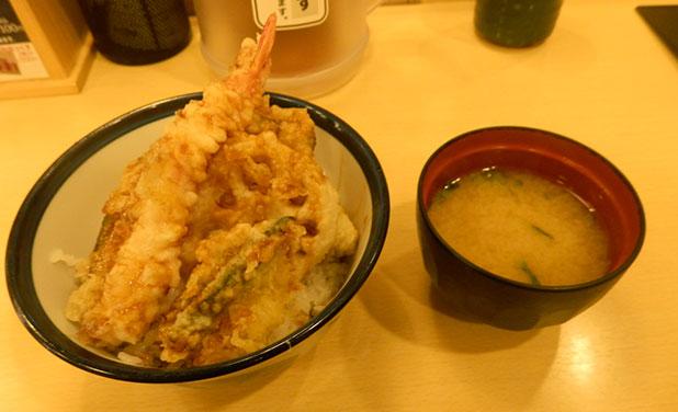 390天丼[サンキュー天丼](390円)