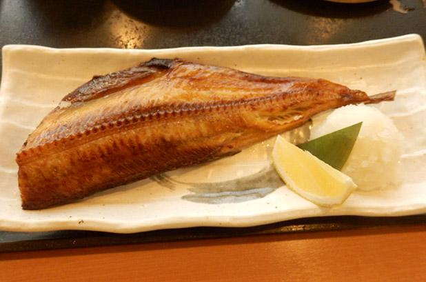 ほっけ焼き定食(850円)